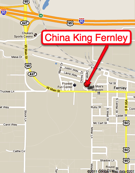 China King Nevada Fernley Map